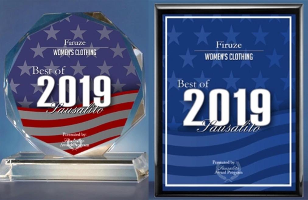 Firuze Award - Best of Sausalito 2019